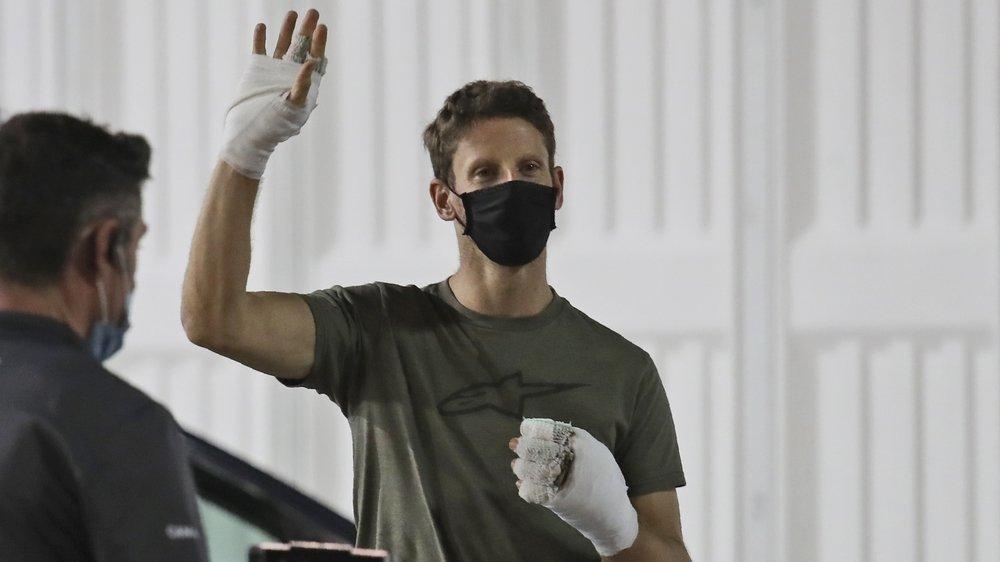 Le 3 décembre, ,moins d'une semaine après son impressionnant accident, Romain Grosjean est venu faire ses adieux au monde de la Formule 1.