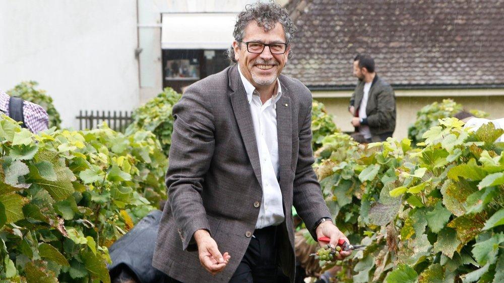 """Directeur technique de la Cave de la Côte, Gilles Cornut a aussi présidé l'interprofession du vin vaudois durant seize ans. """"Ma position devenait difficile à tenir quand est à la fois d'une grande cave et qu'on tient le bras de fer avec la grande distribution."""""""