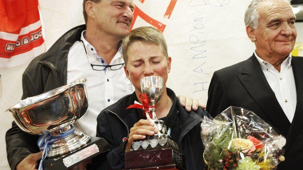 Fin octobre 2014, Nicolas Rolaz entre dans l'histoire de la voile suisse en devenant champion du monde d'Optimist.