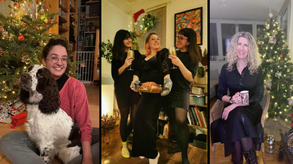 De g. à droite, Julie et la chienne Tweety, Coline Dumauthioz, Camille Rüfenacht,  Lucie de Boer et Shirley Etaix. Toutes ont passé un Noël très particulier.