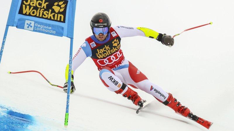 Mauro Caviezel, meilleur Suisse à Bormio, termine à la 5e place.
