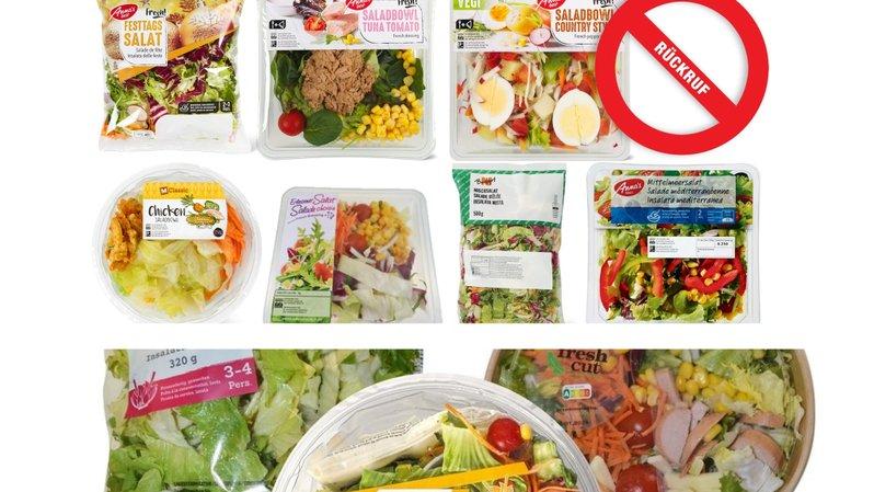 Rappel de produits: plusieurs salades d'Aldi, Migros et Denner contiennent des bactéries listeria