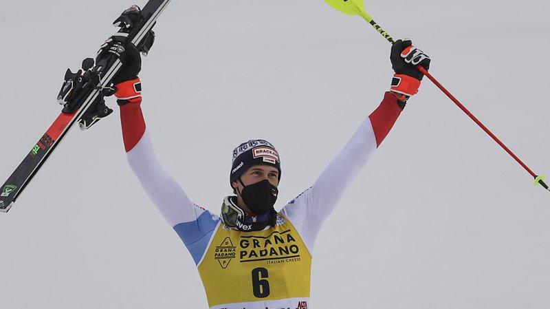 Ski alpin: Ramon Zenhäusern remporte le slalom d'Alta Badia