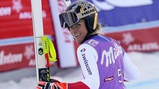Ski alpin: Lara Gut-Behrami remporte le Super-G de Sankt-Anton, Corinne Suter 3e