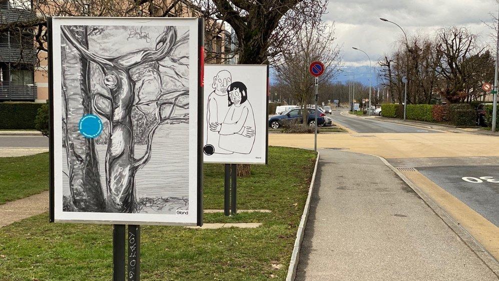 Les artistes sont exposés sur les panneaux d'affichage de la commune jusqu'au 18 février.