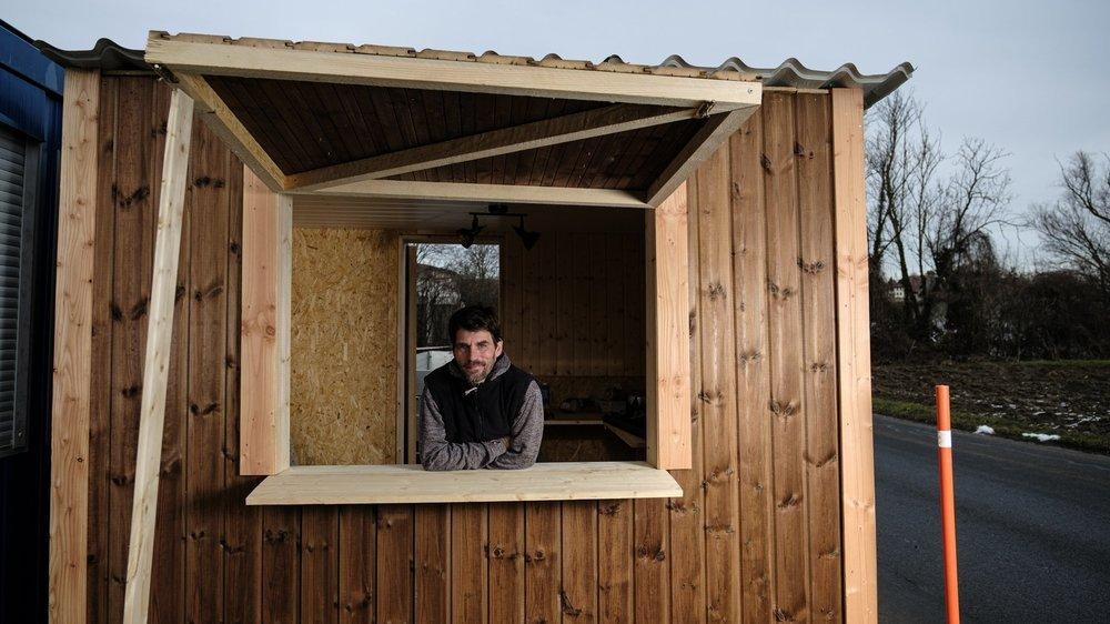 Yoan François a construit sa nouvelle maisonnette à Bremblens. Celle-ci rejoindra Morges à l'automne, pour le lancement de la prochaine saison.