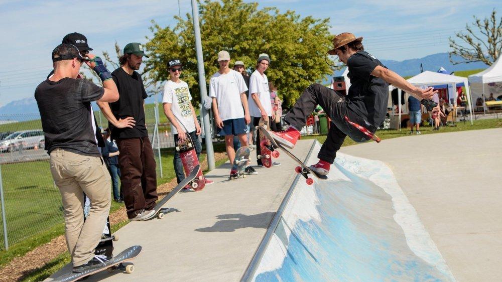 L'un des aménagements prévus est l'agrandissement du skatepark, immortalisé ici lors d'une fête en 2016.