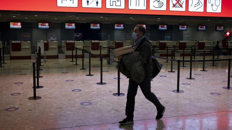 A partir de lundi, un test négatif sera exigé pour l'entrée en Suisse par avion ou en provenance d'un pays à risque (illustration).