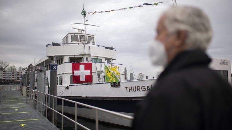 Ouverture d'un centre de vaccination sur un bateau à Romanshorn (TG)