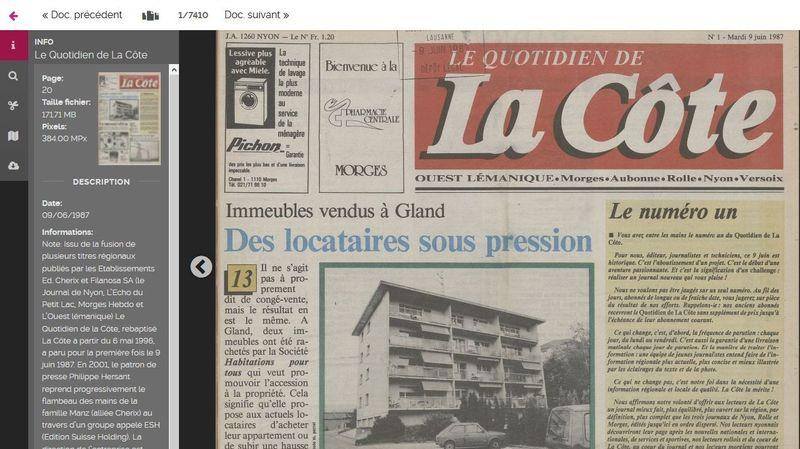 Cinq reflets de l'actualité locale de La Côte sur Scriptorium