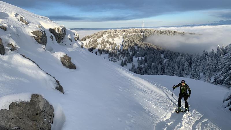Ski de rando: vous êtes toujours plus nombreux à grimper jusqu'à la Dôle
