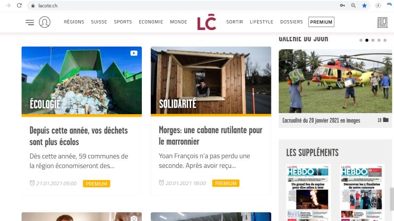«La Côte»: votre journal digital à nouveau disponible
