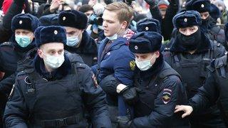 10'000 manifestants pro-Navalny à Moscou: près de 300 arrestations