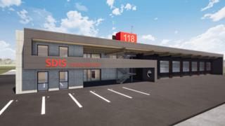 Aubonne: premiers coups de pioche pour la nouvelle caserne des pompiers