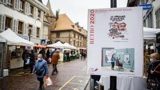 A Morges, les dessins de presse sont à la rue et c'est un succès