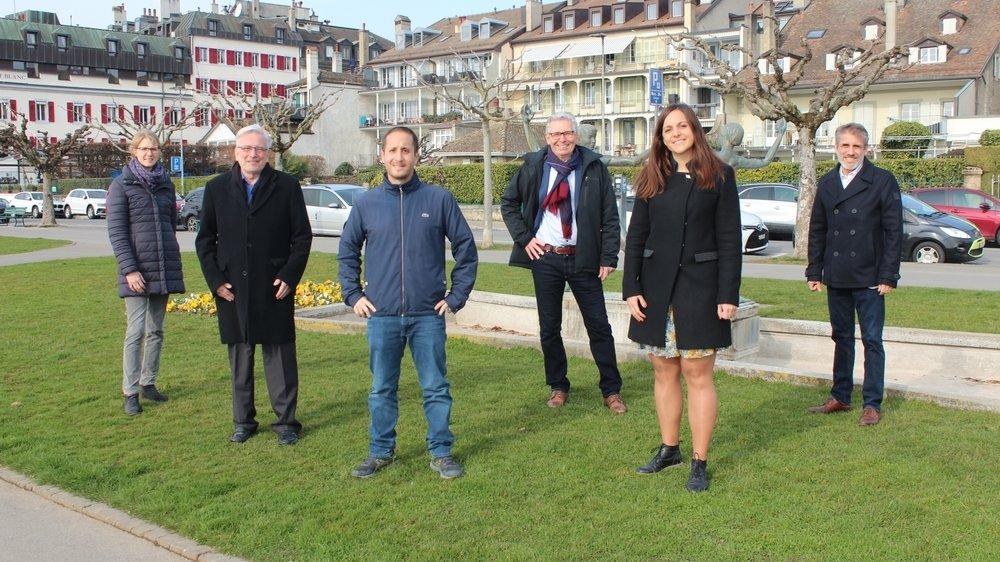 Mélanie Wyss, Jean-Pierre Morisetti, David Guarna, Jean-Jacques Aubert, Laetitia Bettex et Laurent Pellegrino partent unis pour le deuxième tour.