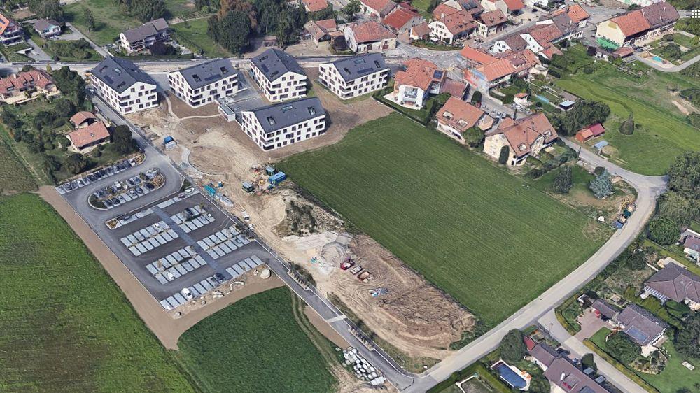 La zone d'utilité publique, en contrebas du quartier du Clos des Alisiers (alors en fin de chantier sur cette image), pourrait ne plus être constructible en cas d'absence de projet.
