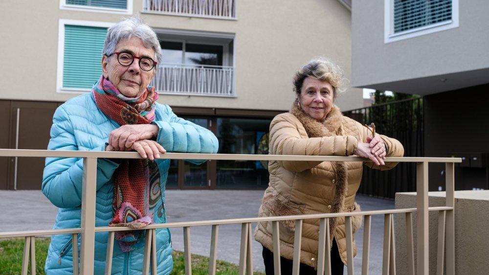 Monique Pérusset ( à g.) et Nelly Fries tiendront l'épicerie solidaire en compagnie d'une équipe de bénévoles.