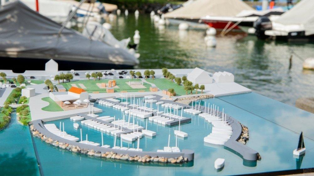 Le projet de port a fait un pas de géant en direction de sa concrétisation. En image, le projet présenté à la population en 2018.