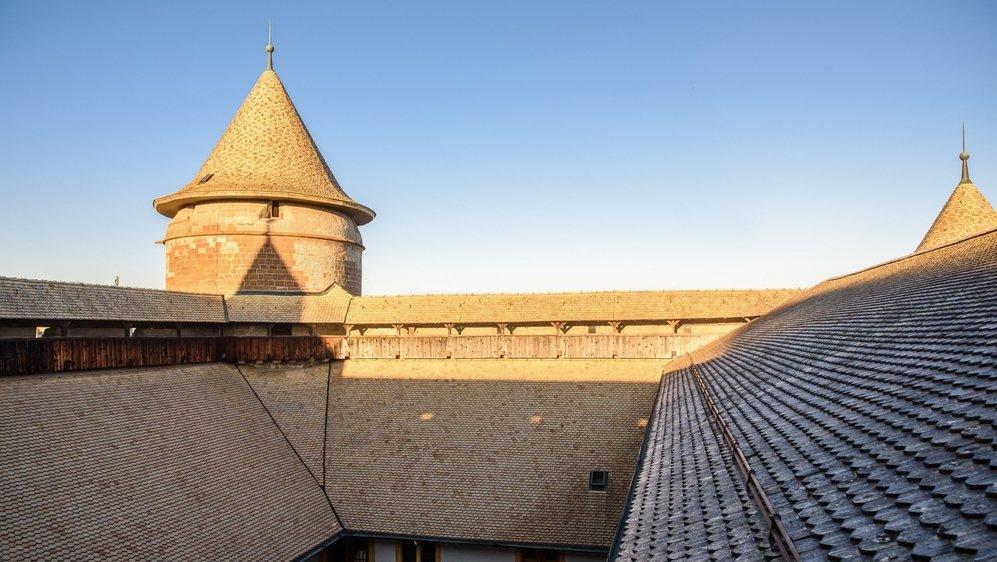 Les fameuses tuiles jaunes couvrent le château de Morges, notamment.