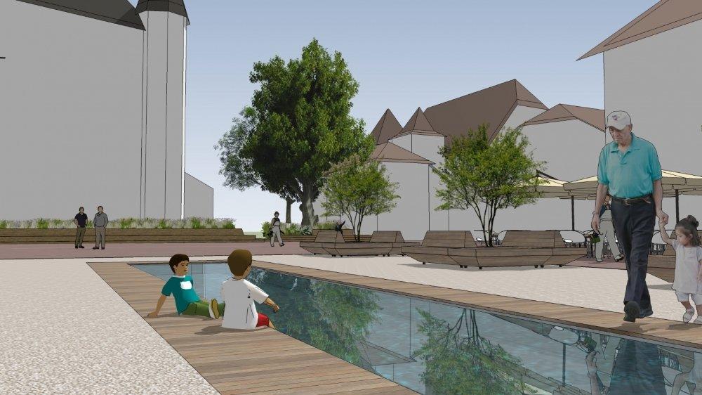 Le projet de la Municipalité, validé en 2018 par le Conseil, prévoit notamment la suppression du podium loué par l'auberge du Château.