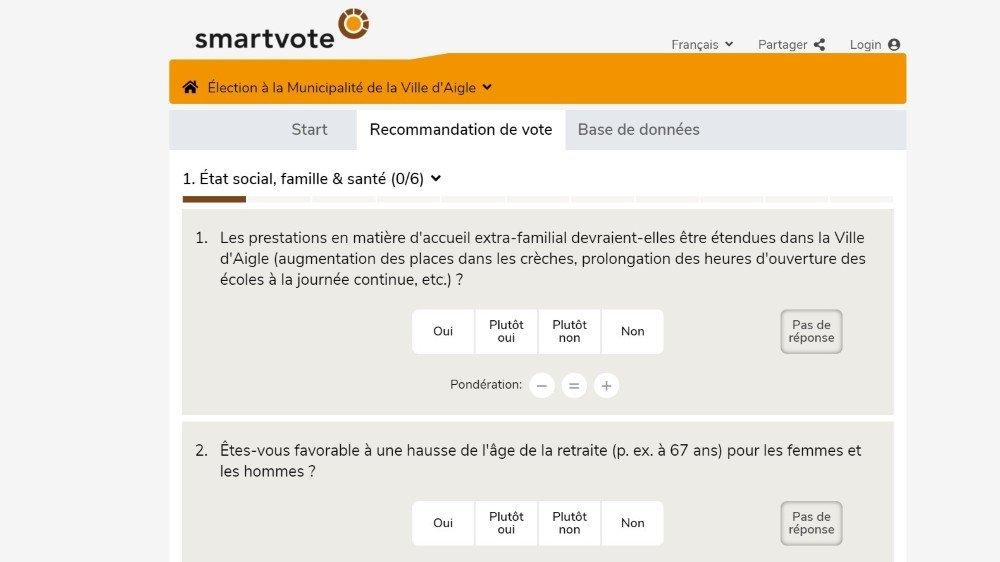 Aigle est la seule ville vaudoise à avoir accepté l'offre de smartvote.