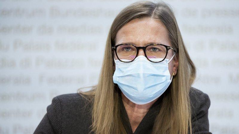 Virginie Masserey, cheffe du contrôle des infections de l'OFSP, reste préoccupée par la progression des variants (archives).