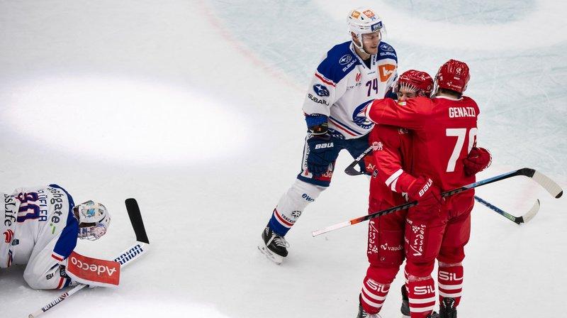 Hockey sur glace – National League: Lausanne remporte le duel des Lions