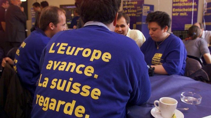 Suisse – UE: il y a 20 ans, l'initiative «Oui à l'Europe!» recevait une claque