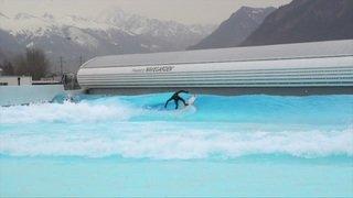 Une piscine à vagues artificielles testée en Valais
