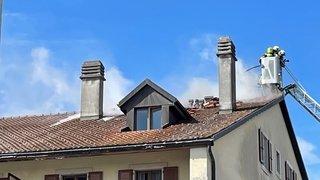 Marchissy, le feu prend dans les combles d'un bâtiment