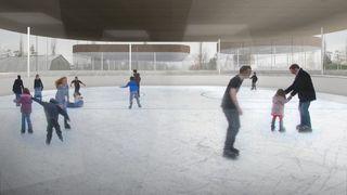 Terre Sainte: la piscine-patinoire franchit une étape décisive