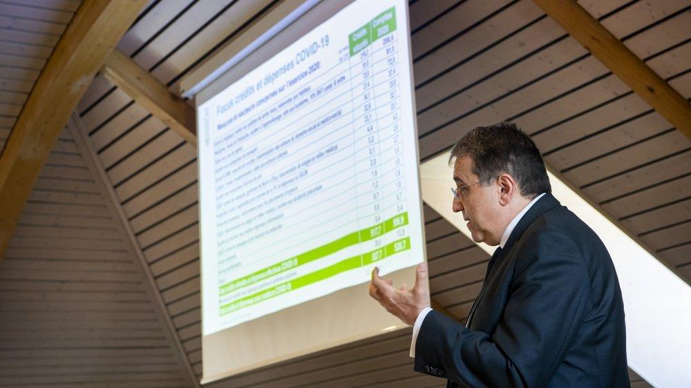 Pascal Broulis a présenté des comptes cantonaux 2020 en excellente santé.