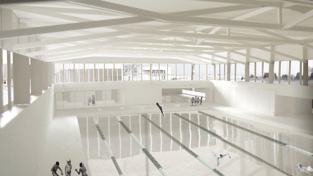 L'infrastructure pourrait accueillir ses premiers nageurs et patineurs, au plus tôt, en 2023.