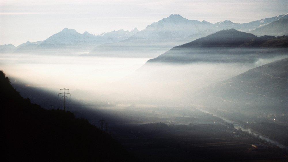Nuage de particules fines sur la vallée du Rhône.