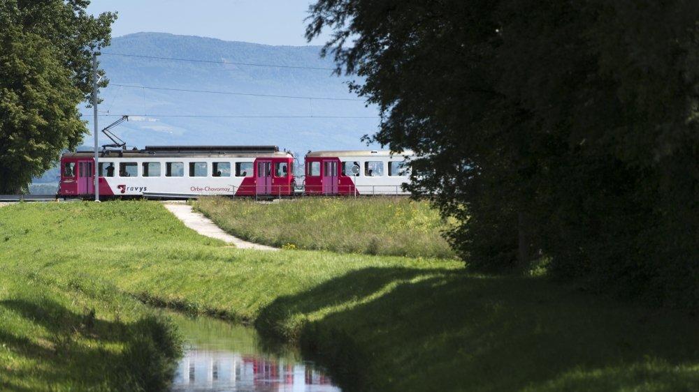 Aujourd'hui déjà, les subventions couvrent les deux tiers du coût des transports publics vaudois. Ici la ligne Orbe-Chavornay.