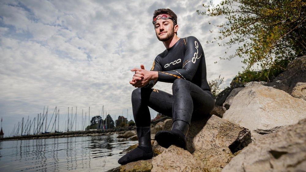 Après avoir traversé à deux reprises le Léman dans sa largeur, le nageur de 24 ans s'attaque à un plus gros morceau.