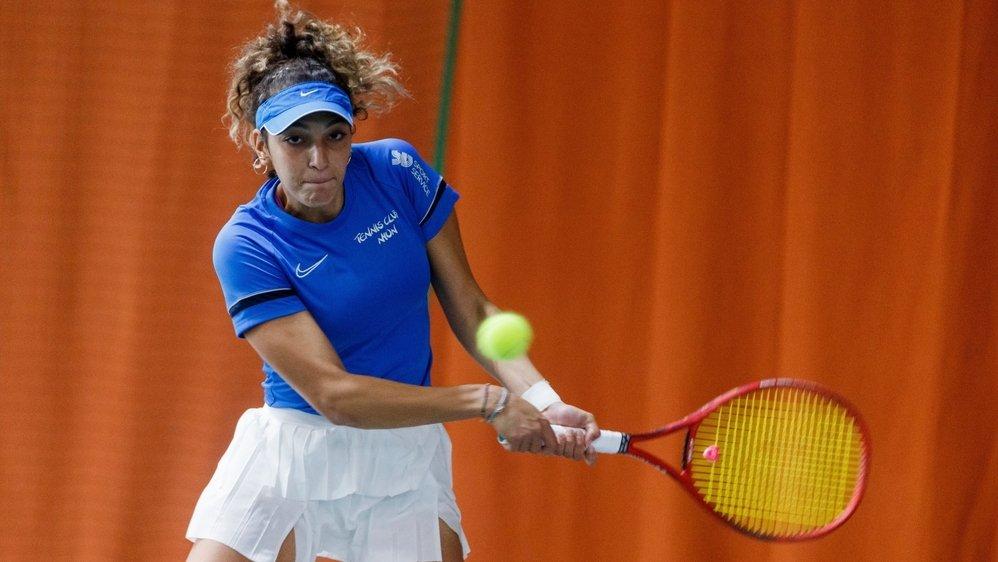 En simple, Yasmine Mansouri s'est montrée intraitable face Noelia Zeballos pour offrir au TC Nyon son seul point de la journée.