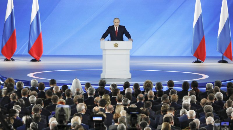 Vladimir Poutine, aux commandes du pays depuis 2000, aurait dû en théorie se retirer en 2024, la législation russe n'autorisant pas un président à faire plus de deux mandats consécutifs (ARCHIVE).
