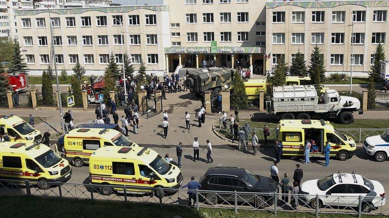 Russie: une fusillade fait neuf morts dans une école de Kazan
