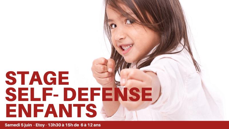 Stage de Self-defense kids