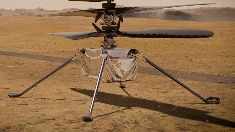 Espace: l'hélicoptère Ingenuity a effectué un court vol sur Mars