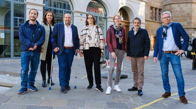 Morges est la seule exception qui fait un virage à droite. La nouvelle municipalité : David Guarna, Laetitia Bettex, Vincent Jaques, Laure Jaton, Mélanie Wyss Pittet, Jean-Jacques Aubert.