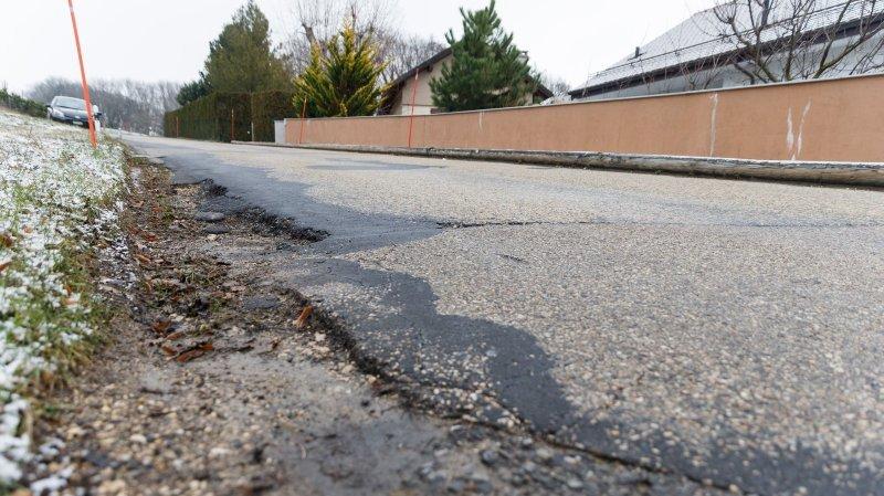 La route du Châtelard est fermée pour plusieurs mois.