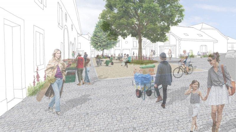 A Prangins, l'avenir de la place du village se dessine sans voitures