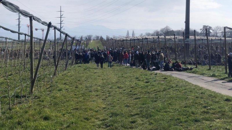 Le 22 mars, les étudiants du CEPM et du gymnase de Morges avaient été évacués.