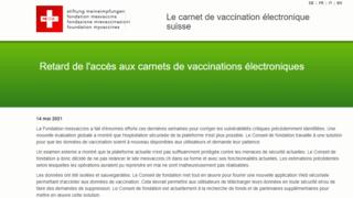 Carnet de vaccination électronique: la plateforme mesvaccins.ch est fermée