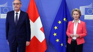 Accord-cadre: des divergences fondamentales contre un accord selon Parmelin
