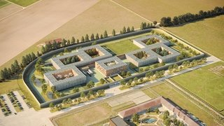 Vaud: la future prison des Grands-Marais à Orbe prend forme.
