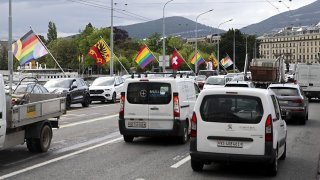 Genève: cure de jouvence pour le pont du Mont-Blanc et trafic perturbé